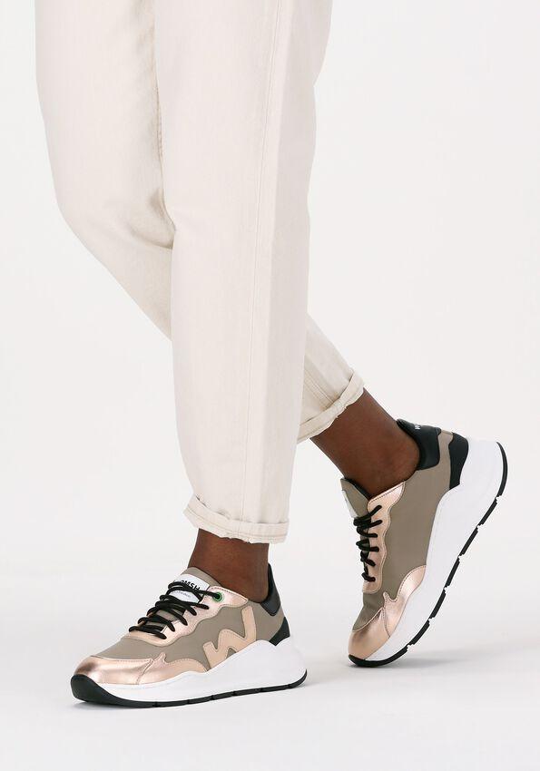 Beige WOMSH Lavskaftede sneakers WAVE  - larger
