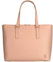 Lyserøde TOMMY HILFIGER Shoppingtaske SAFFIANO TOTE  - medium