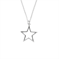 Sølv ATLITW STUDIO Halskæde SOUVENIR NECKLACE STAR  - medium