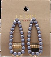 Sølv LE BIG Hårbånd TOLEEN HAIRCLIPS  - medium