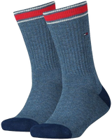Blå TOMMY HILFIGER Strømper TH KIDS ICONIC SPORTS SOCK 2P  - medium