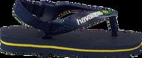Blå HAVAIANAS Flipflops BABY BRASIL LOGO II  - medium