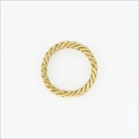 Guld NOTRE-V Ring RING KLEINE SCHAKEL  - medium