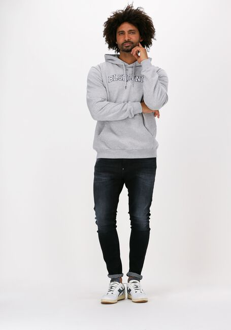 Lysegrå BLS HAFNIA Sweater VARSITY ARCH HOODIE - large