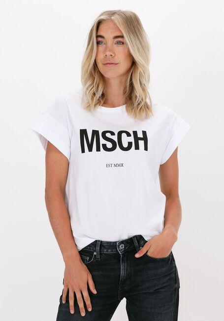 Hvide MSCH COPENHAGEN T-shirt ALVA MSCH STD TEE - large