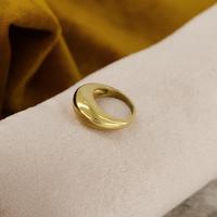 Guld NOTRE-V Ring RING ZEGEL ONE SIZE  - medium