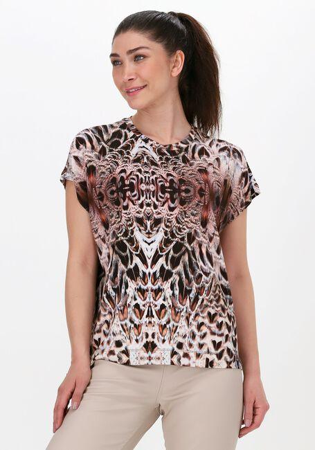 Brune SUMMUM T-shirt TOP SHORT SLV FEATHER PRINT ON  - large