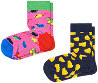 Flerfarvede HAPPY SOCKS Strømper 2-PACK KIDS MOUSE  - medium