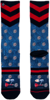 Blå XPOOOS Strømper BARNEY  - medium