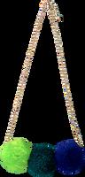 Blå LE BIG Halskæde POOKY NECKLACE  - medium
