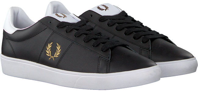 Sorte FRED PERRY Lavskaftede sneakers B8255  - large