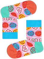 Lyserøde HAPPY SOCKS Strømper SWEET HEART  - medium