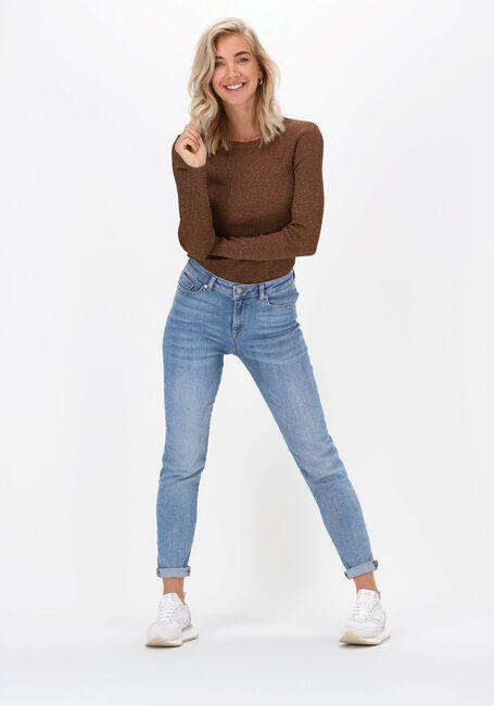 Blå SELECTED FEMME Skinny jeans SLFSOPHIA MW SKINNY MID BLUE J - large