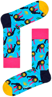 Blå HAPPY SOCKS Strømper MONKEY  - medium
