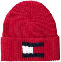 Røde TOMMY HILFIGER Huer BIG FLAG BEANIE  - medium