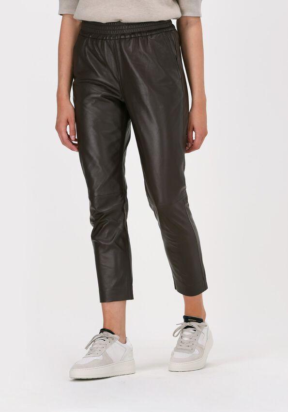 Brune CO'COUTURE Pantalon SHILOH CROP LEATHER PANT  - larger