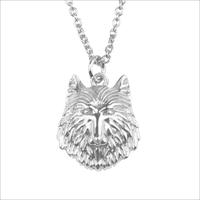 Sølv ATLITW STUDIO Halskæde SOUVENIR NECKLACE WOLF  - medium