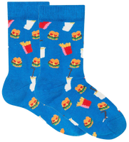 Blå HAPPY SOCKS Strømper HAMBURGER KIDS  - medium
