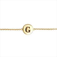 Guld ATLITW STUDIO Armbånd CHARACTER BRACELET LETTER GOLD  - medium