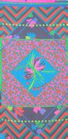 Flerfarvede LE BIG Sjal PERLA SCARF  - medium