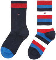 Blå TOMMY HILFIGER Strømper TH KIDS BASIC STRIPE SOCK 2P  - medium
