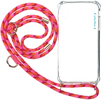Lyserøde KASCHA-C Telefonrem PHONECORD IPHONE X/XS  - medium