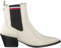 Hvide TOMMY HILFIGER Ankelstøvler CORPORATE FLAT  - medium
